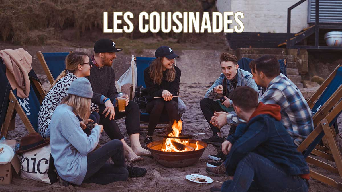 Les cousinades généalogie cousins autour d'un feu